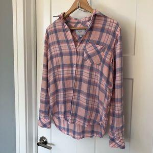 Rails pink plaid shirt